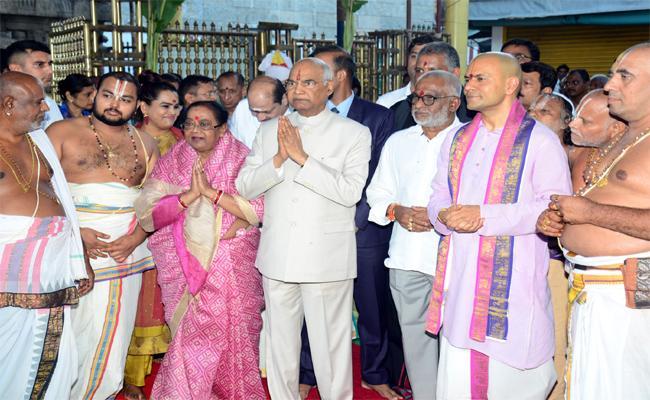 President Ramanath Kovind Visits Tirumala - Sakshi