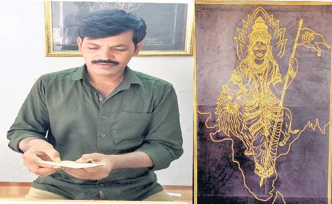 Baswaraj Rajamouli is Specialist In Fairy-Tale paintings In Siddipet - Sakshi