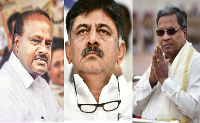 Senior Cong Leaders CM Kumaraswamy Meet Amid Uncertainty - Sakshi