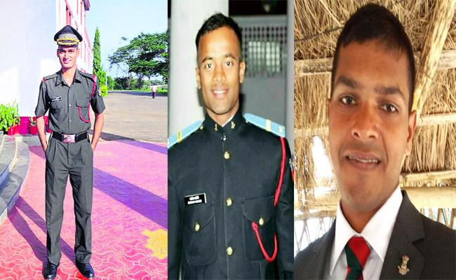 Special Story About 3 IIIT Students Of Nuziveedu Serving For Indian Military Service - Sakshi