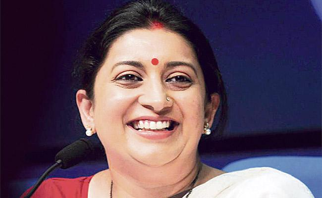 Smriti Irani posts funny working weekends meme  - Sakshi