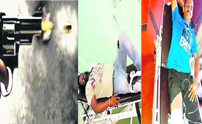 Police Gun Fires On Rowdy Sheeters In Karnataka - Sakshi