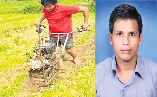 A Mechanic Made Agricultural Machine With Bike Engine In Siddipet - Sakshi