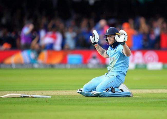 Ball deflects off Ben Stokes bat during 2019 World Cup final - Sakshi