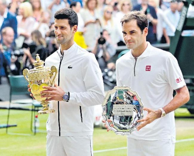 Novak Djokovic beats Roger Federer in epic match to win fifth Wimbledon title - Sakshi