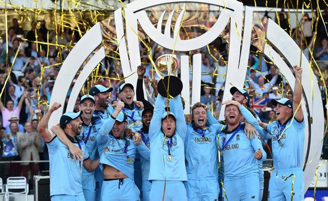 England win Cricket World Cup after super-over drama against New Zealand  - Sakshi