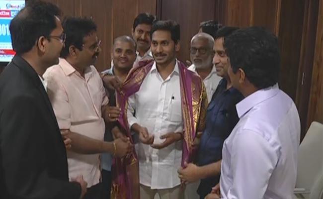 NATA Member Meets AP CM YS Jagan Mohan Reddy - Sakshi