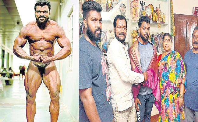 Kiran Kumar Want to Help For World Body Building Championship - Sakshi