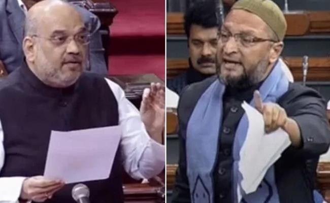 Amit Shah Lashed Out At AIMIM President Asaduddin Owaisi In Lok Sabha - Sakshi