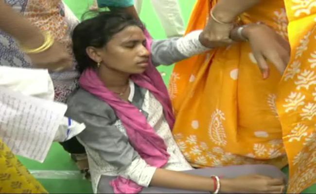 Woman Suicide Attempt in Vizianagaram Collectorate - Sakshi
