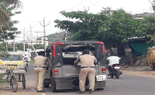Police Vehicle Has Given Lot Of Trouble In Tadepalli - Sakshi