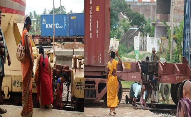 No Foot Over Bridge In Kaviti Railway Station In Srikakulam - Sakshi