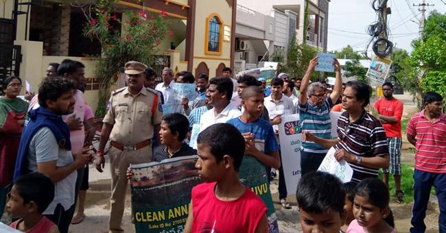 Annarayani Cheruvu Protection Rally in Nagaram - Sakshi