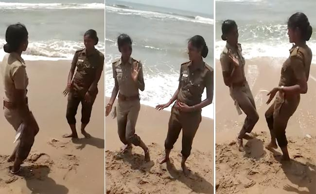Women Police Tik Tok Video Viral - Sakshi