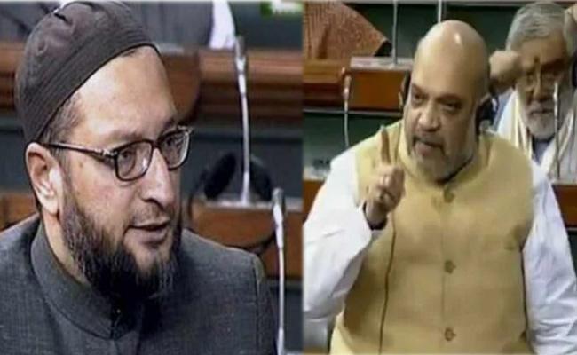Asaduddin Owaisi Critics Minister Home Affairs Amit Shah - Sakshi