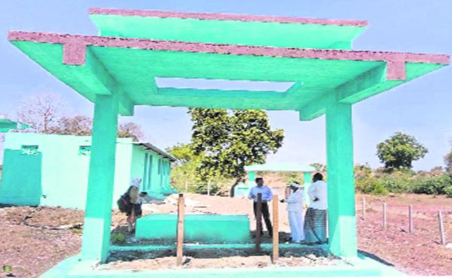 Adilabad Cemetery  constructions slow - Sakshi