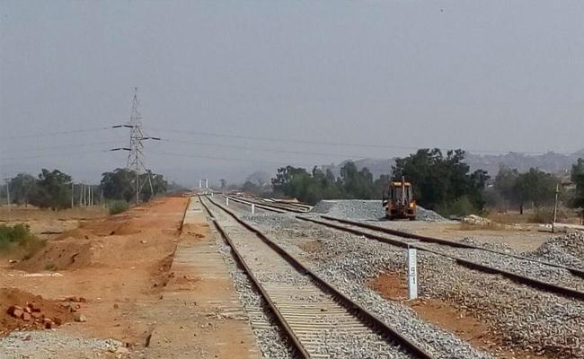 Kadapa-Bangalore Railway works Under Processing - Sakshi