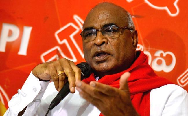 CPI Chada Venkatreddy Slams TRS Government - Sakshi
