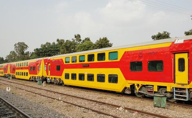 UDAY Double Deccar Train Is Arriving To Visakhapatnam - Sakshi