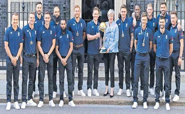 England Team Meet Theresa May Post World Cup Victory - Sakshi