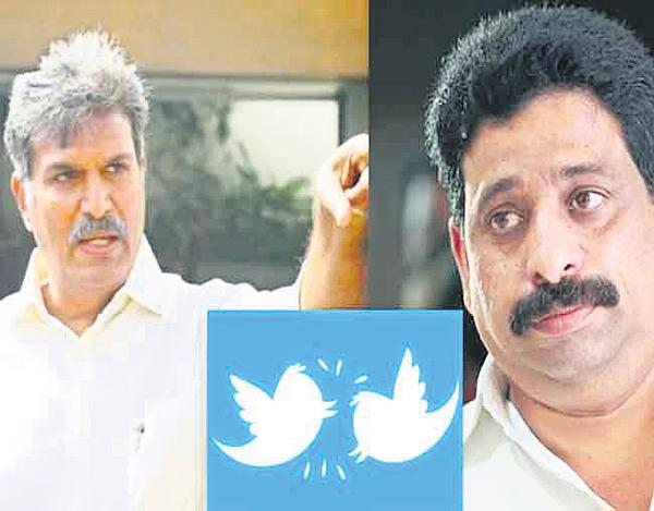 Mutual accusations of Kesineni Nani And Buddha Venkanna - Sakshi