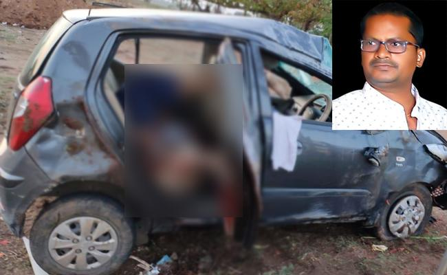 Man Died Car Accident In Mahabubnagar District  - Sakshi