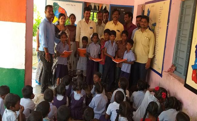 Sarpanch Daughter Joined In Government School In Mahabubnagar - Sakshi