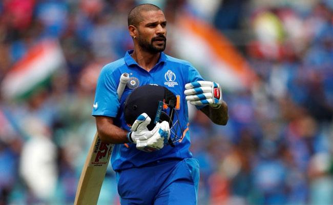 Dhawan Picks Up Bat For The First Time After Injury - Sakshi