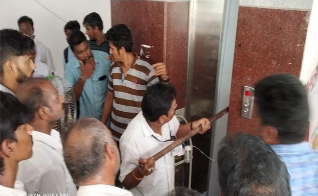 A Lift Was Stopped At Health City ESI Hospital In Arilova, Visakahapatnam - Sakshi