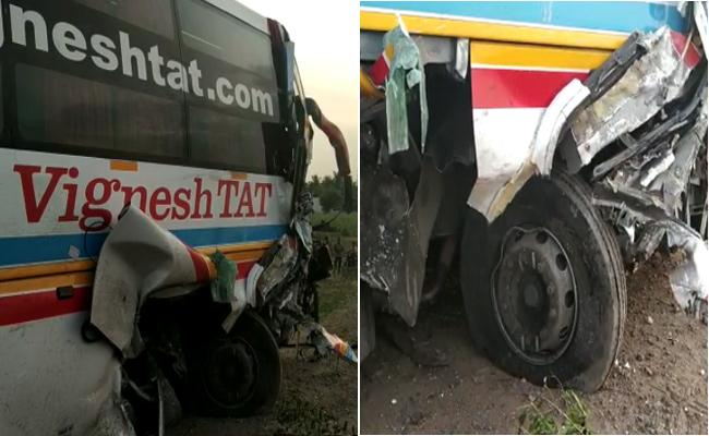 Two Vehicle Collision Nine Men Dead In Tamilnadu - Sakshi