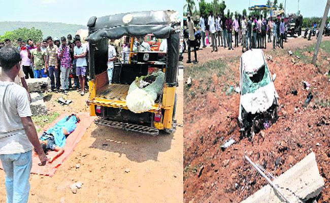 3 People Died In Bike accident In Visakhapatnam - Sakshi