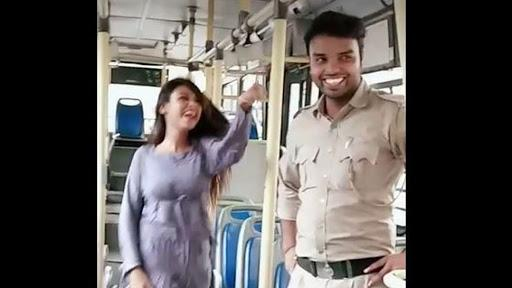 DTC Staff Faces Action After Video Of Woman Dancing Inside Bus - Sakshi