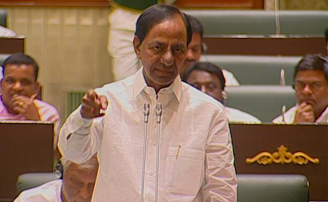 TS Assembly Sessions KCR Response On Congress Leaders Agitation - Sakshi