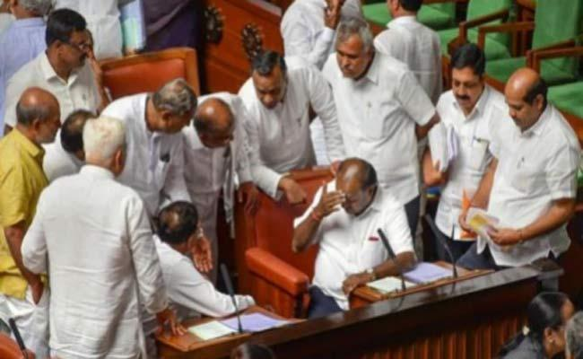 Karnataka Assembly adjourned for lunch - Sakshi