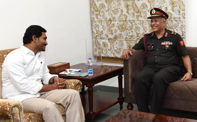 Major General Srinivas Rao Meets AP CM YS Jagan - Sakshi