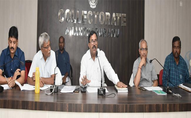 Anantapur Collector Satyanarayana Warns Revenue Employees - Sakshi