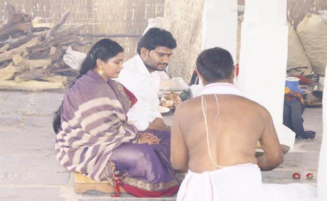 Sinangamala MLA Couple Started Yagam For Rain - Sakshi