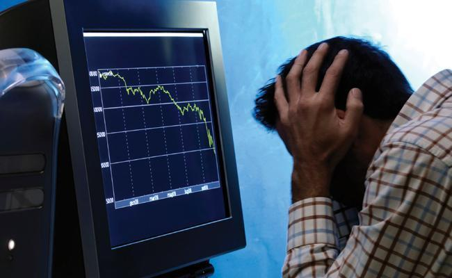 Sensex Falls Over 350 Points From Day High  - Sakshi