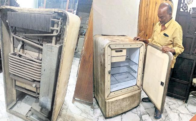 175 Years Back Old Kerosene Refrigerator in Hyderabad - Sakshi