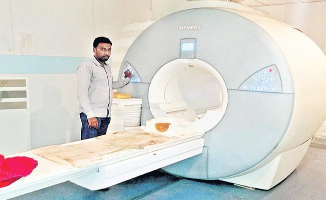 MRI Machine Working in Gandhi Hospital - Sakshi