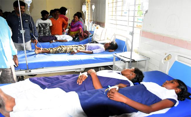 Students Admitted to Hospital After Consuming Tablets - Sakshi
