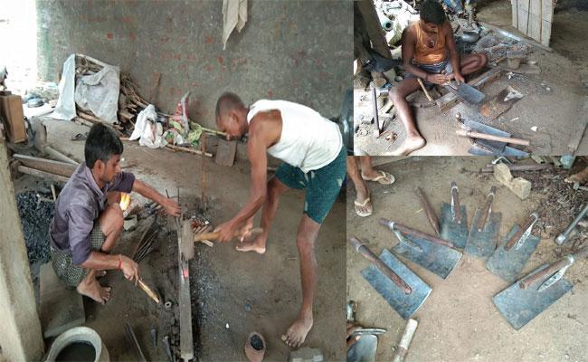 Regidi In Srikakulam Is Famous For Shovels Manufacturing - Sakshi