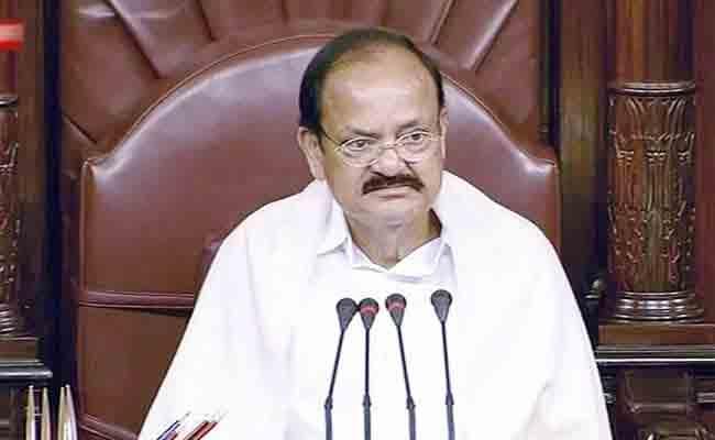 Venkaiah Naidu Warns Absentee Minister In Rajya Sabha - Sakshi