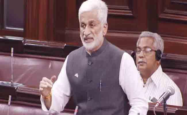 MP Vijay Sai reddy Satires On Chandrababu Naidu Over Janmabhoomi Committees - Sakshi