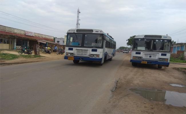 Narayan Khed Depot Officers Blocking Banswada Bus Services - Sakshi