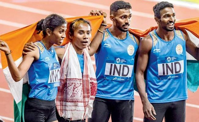India Mixed Relay Silver at Asiad Set to Be Upgraded to Gold - Sakshi