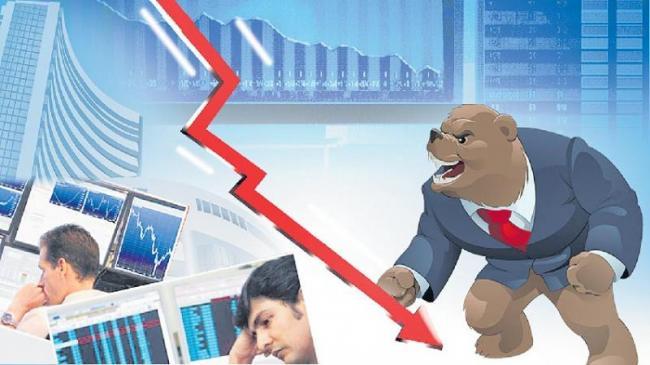 Sensex drops 560 points - Sakshi