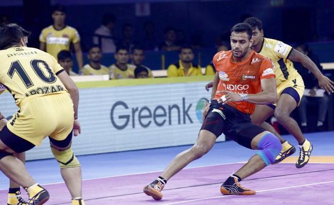 Pro Kabaddi League U Mumba Beat Telugu Titans - Sakshi