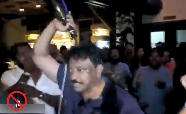 iSmart Shankar Success Celebrations With Ram Gopal Varma - Sakshi