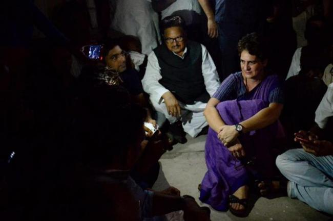 Congress claims no water, electricity supply for Priyanka Gandhi - Sakshi